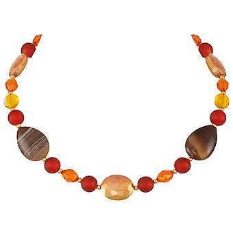 Ewige Sammlung Thanksgiving Orange bunten Kristall und Achat Statement Halskette