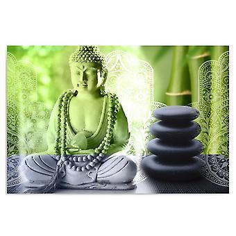 Lienzo, Imagen sobre lienzo, Buda y piedras
