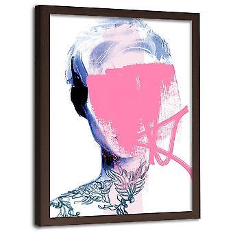 Immagine in cornice naturale, donna senza volto