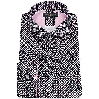 Guide London Bright Diamond Print Mens Shirtns Shirt