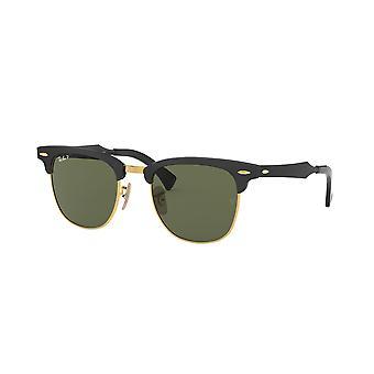Ray-Ban ALUMINUM CLUBMASTER RB3507 136/N5 Black-Arista/Polar Green Sunglasses