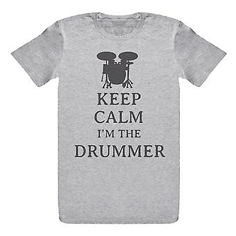 Hold rolig jeg ' m trommeslageren-Herre T-skjorte