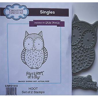 Expressions créatives Rubber Stamp Set - Owl ait une huée d'une journée