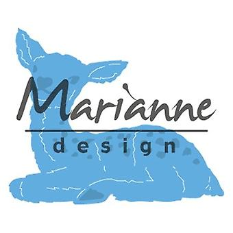 Marianne Design Creatables klein de Baby herten sterven, metaal, blauw, 13 x 10 x 0,2 cm