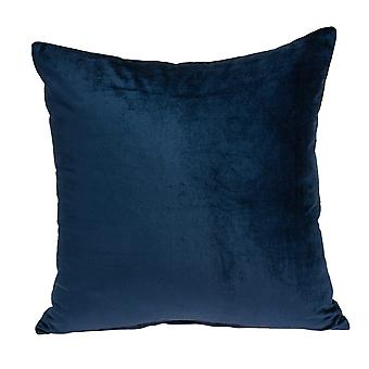 """18"""" x 7"""" x 18"""" Transitional Navy Blue Solid Pillow Cover With Poly Insert"""