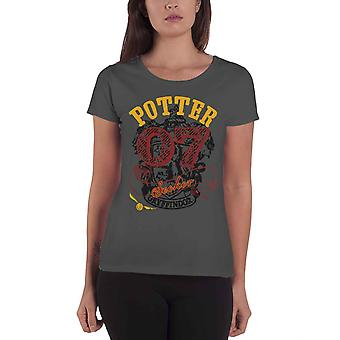 Harry Potter T Shirt Potter 07 Seeker new Official Womens Skinny Fit Charcoal