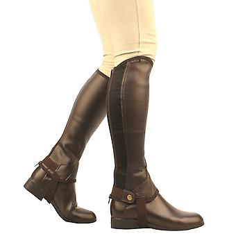 Saxon Unisex Equileather Childs Half Chaps