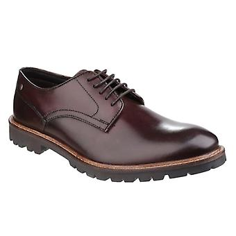 Base London Barrage Mens Leather Derby Shoes Brown