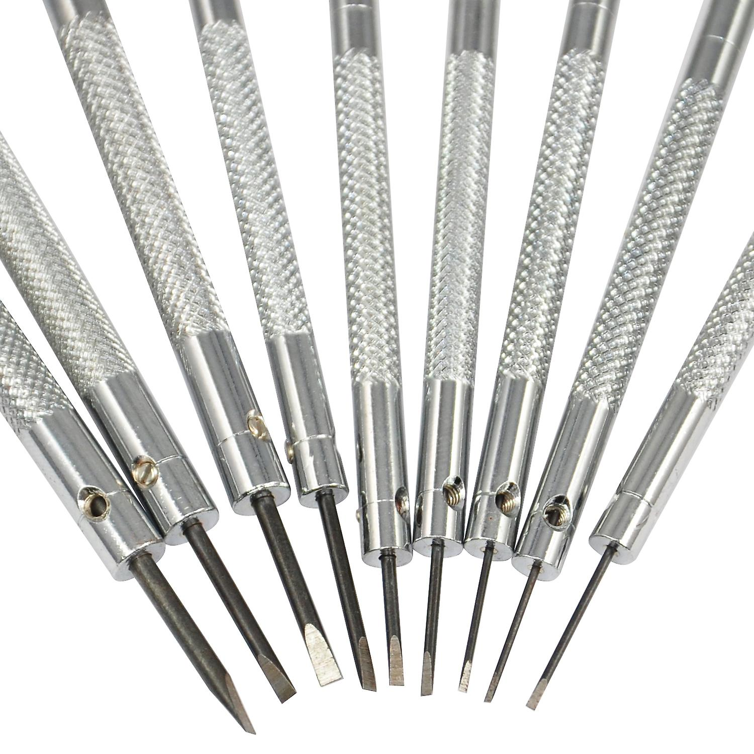 TRIXES Set Of 9 Professional Watch Screwdrivers on Stand