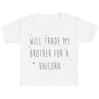 Will Trade My Sister For A Unicorn Baby T Shirt