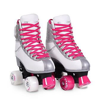Byox patins Amar tamanho rosa XL 38-39, rodas PU, iluminado ABEC-5, até 60 kg