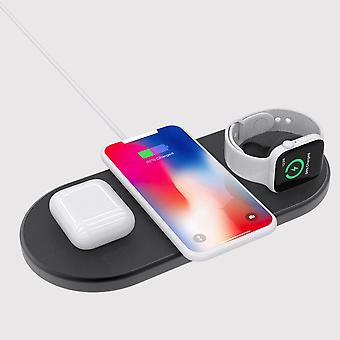 3-in-1 Wireless Charging Pad With 30 Watts EU Plug Adapter