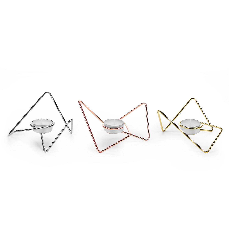 Mixed Tri-angular T-Light Loops (x3) by Black+Blum