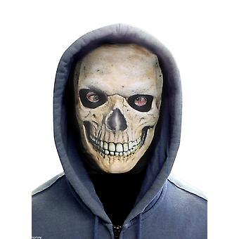 Wild star hearts - grinning skull face - lycra face mask