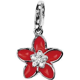 Pierre Lannier JC99A106 - red flower Charm charm