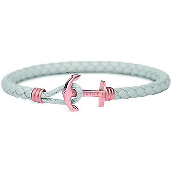 Bracelet Paul Hewitt PH-PHL-L-R-g - strap anchor Simple IP Rose / grey leather