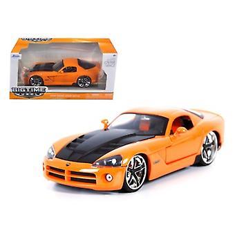 2008 Dodge Viper Srt10 Orange 1/24 Diecast Car Modelo Por Jada
