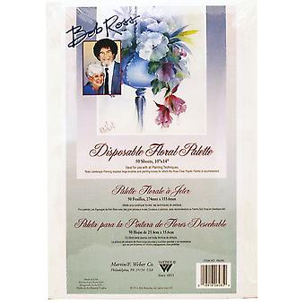 Bob Ross Disposable Floral Painting Palette 10 x 14""