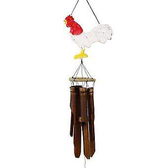 Blizzard Rooster Silhouette Bamboo Wind Chime