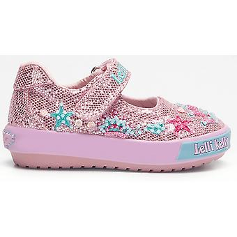 Lelli Kelly Tiara Baby LK1004 Pink Glitter Canvas Shoes