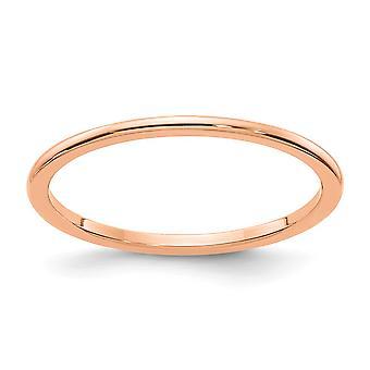 "10kr 1.2 מ""מ חצי טבעת הלהקה משתלבת מתנות לנשים-גודל טבעת: 4.5 כדי 10"