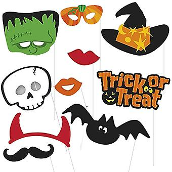 Holloween Party Photo Booth Props With Attached Stick Cardboard