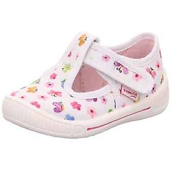 Superfit Girls Bully 265-10 Canvas Shoes White Print