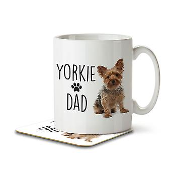 Yorkie Dad - Mug and Coaster