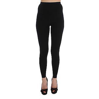 Dolce & Gabbana Black Wool Stretch Panty's Broek