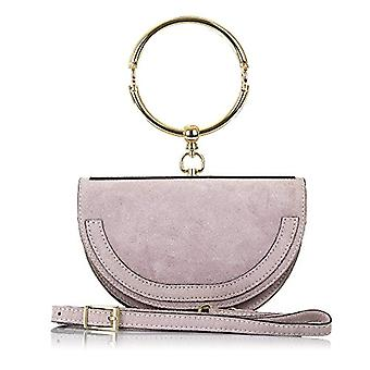FIRENZE ARTEGIANI. Real women's wallet. Authentic suede handbag. Exclusive design. Luxury hand ring. MADE IN Italy. REAL PELLE ITALIANA.21x14x6 cm. Pink