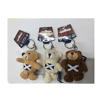 Union Jack Wear Scotland Flag Teddy Bear Keyrings