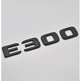 Matt Black E300 Flat Mercedes Benz Car Model Rear Boot Number Letter Sticker Decal Badge Emblem For E Class W210 W211 W212 C207/A207 W213 AMG