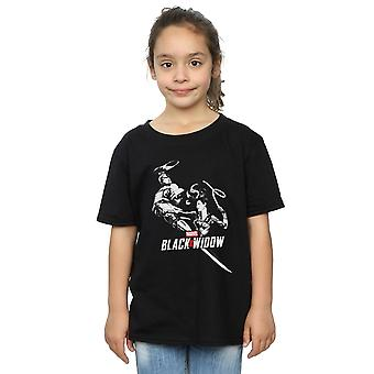 Marvel Girls Black Widow Movie Taskmaster Battle T-Shirt