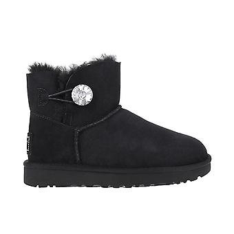 UGG Mini Bailey Button Bling 1016554BLK universal winter women shoes