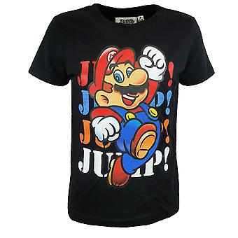 Super mario jongens t-shirt katoenzwart