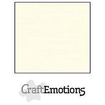 CraftEmotions linen cardboard 10 Sh ivory LHC-03 A5 250gr