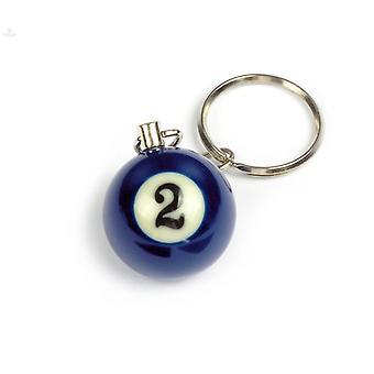 Nøkkelring/nøkkelring Biljard ball (ingen #2)