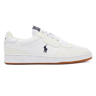 Ralph Lauren Polo Court Mens White / Navy Trainers