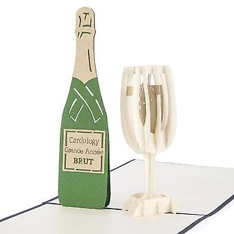 Cardology Glass Of Bubbly Pop Up Card