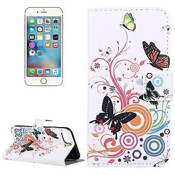 IPhone SE (2020), 8 & 7 lompakko tapauksessa värikäs perhosia suojaava nahkakansi