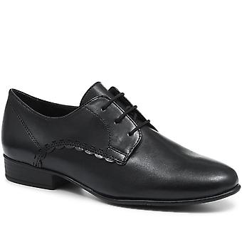 Tamaris Leather Scalloped Edge Derby Shoe