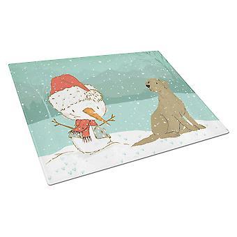 Suklaa Labrador Lumiukko joululasi leikkuulauta suuri