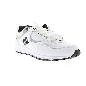 DC Kalis Lite SE  Mens White Leather Mesh Low Top Athletic Skate Shoes