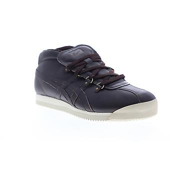 Onitsuka Tiger Schanze 72 Mens Brown Leather Lifestyle Sneakers Shoes