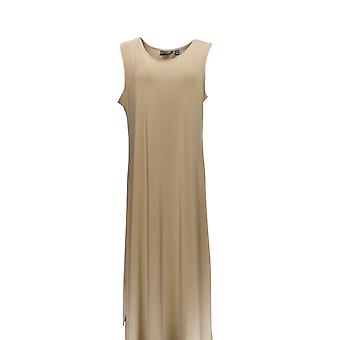 Attitudes by Renee Petite Dress Como Jersey Maxi Dress Taupe Brown A347505