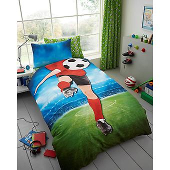 Voetbal Selfie jongens meisjes Kids Single Soccer Duvet Cover kinderen beddengoed Set