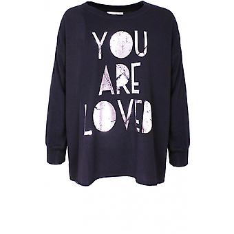 A Postcard from Brighton Loved Soft Black Jersey Sweatshirt