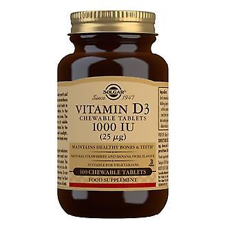 سولغار فيتامين D3 1000iu علامات التبويب القابلة للمضغ 100 (54956)