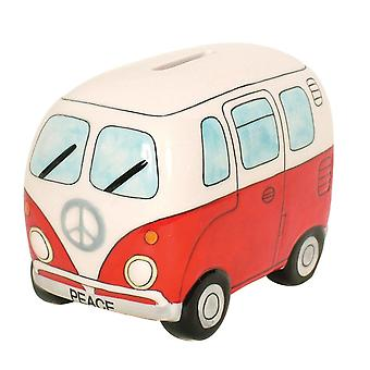 Small Campervan Money Bank - Red
