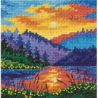 Klart Cross Stitch Kit - Sunset On The Lake